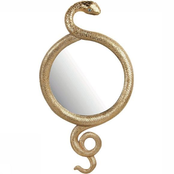 &KLEVERING Miroir Snake Or