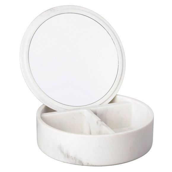 Le Studio Jewellery Box With Mirror Blanc