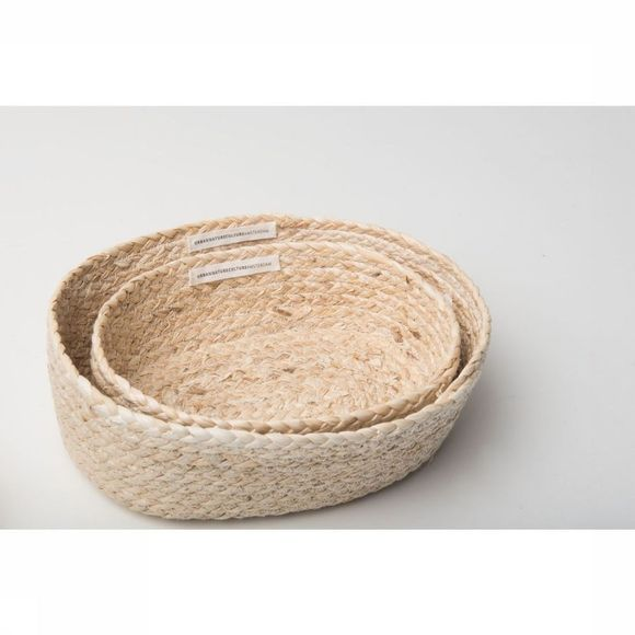 Urban Nature Culture Kleine Opberger Baskets Corn Set Of 2 Assortiment