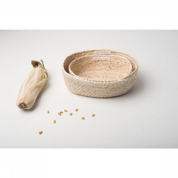 Urban Nature Culture Petit Rangement Baskets Corn Set Of 2 Assortiment