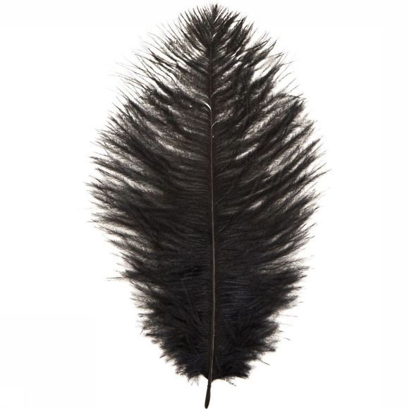 Madam Stoltz Ostrich Feather 17-22 Zwart