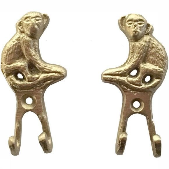 Doing Goods Kapstok Peppin Monkey Hook Set Of 2 Goud
