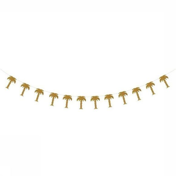 &KLEVERING Decoratie Palm Tree Garland Goud