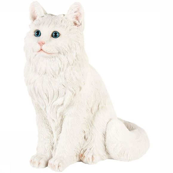 &K Decoration Coinbank Cat Blanc