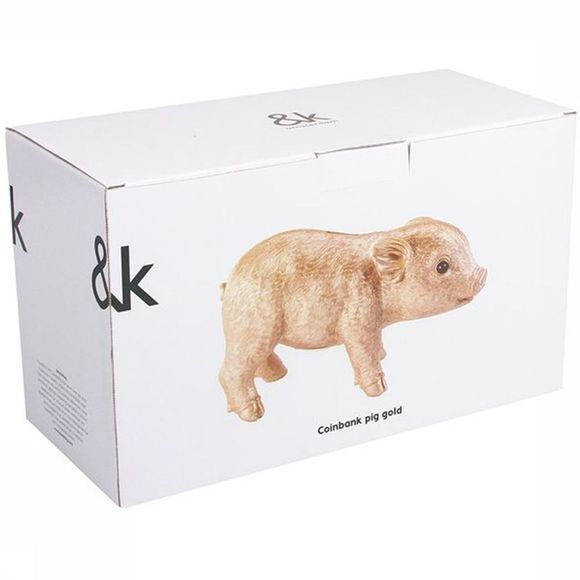 &KLEVERING Decoration Coinbank Pig Gold Or