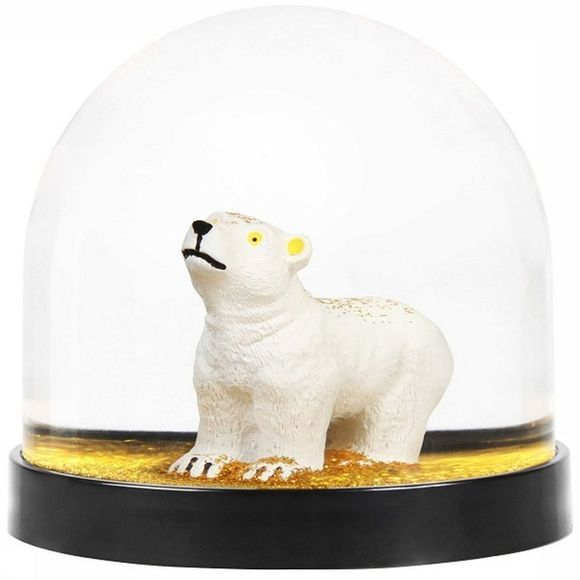 &KLEVERING Decoration Wonderbal Polar Beer Gold Glitter Or/Blanc