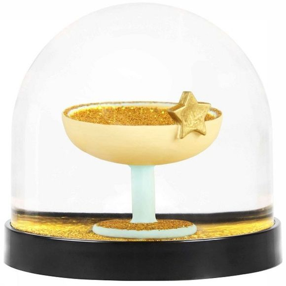 &KLEVERING Decoratie Wonderball Champagne Coupe Goud/Wit