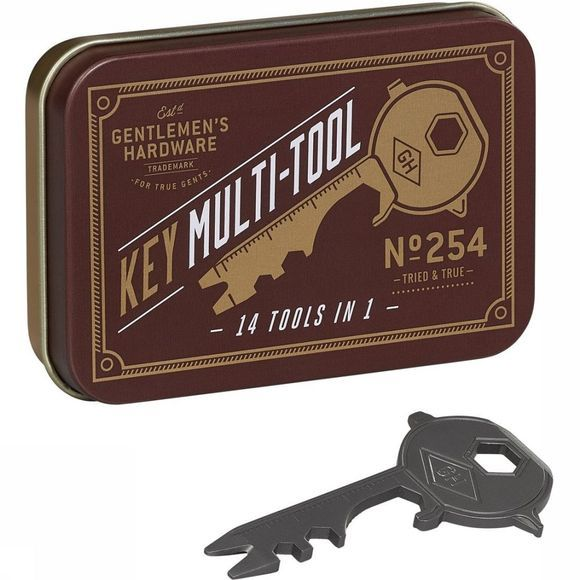 Gentlemen's Hardware Woonaccessoire Key Multi-Tool 14 in 1 Middengrijs