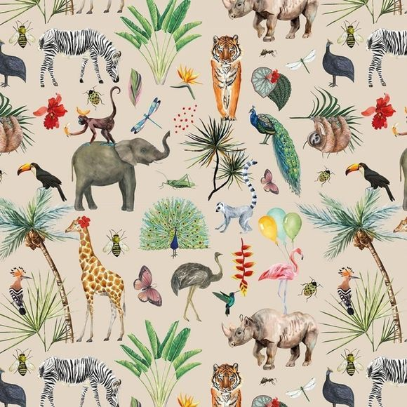 House of Products Inpakpapier Jungle Geen kleur