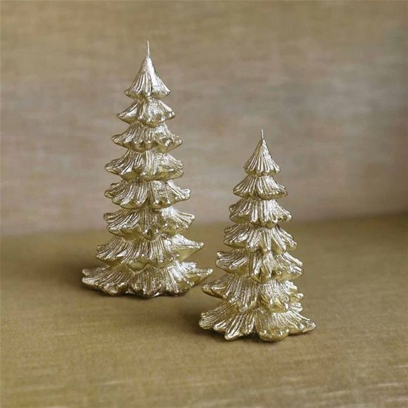 &KLEVERING Kerstcollectie Candle Christmas Tree Small Goud