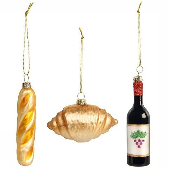 &KLEVERING Kerstcollectie France Ornaments Set Of 3 Assortiment