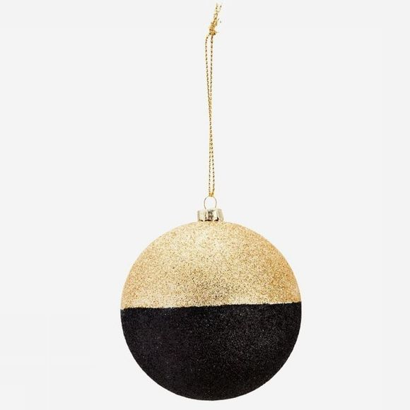Madam Stoltz Collection De Noel Hanging Glitter Or/Noir
