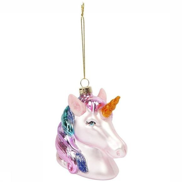 Sunnylife Unicorn Festive Ornament Blanc/Rose Clair