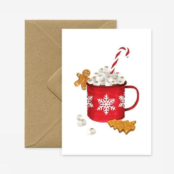 All the ways to say Wenskaart Xmas Hot Chocolate Geen kleur / Transparant