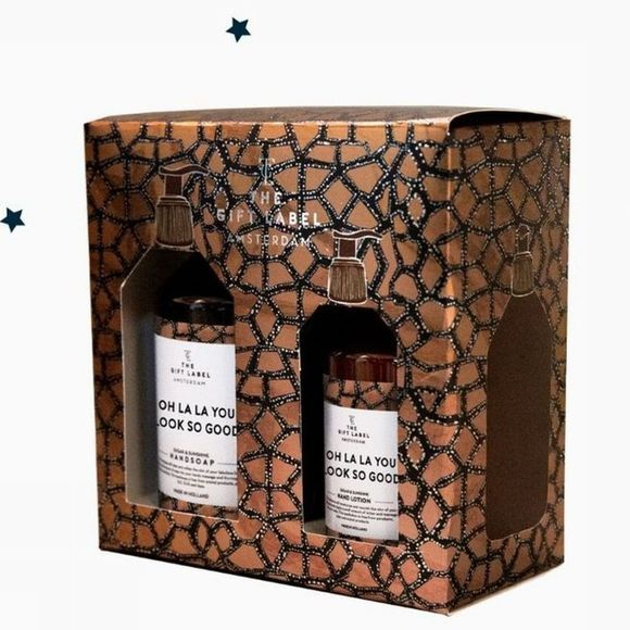 The Gift Label Collection De Noel Gift Box X-Mas Oh La La Or/Noir