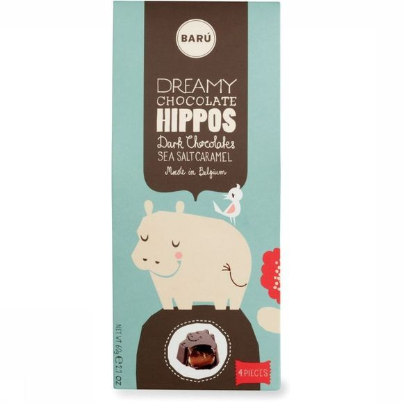 Baru Dreamy Hippos Dark Chocolate Sea Salt Caramel Pas de couleur