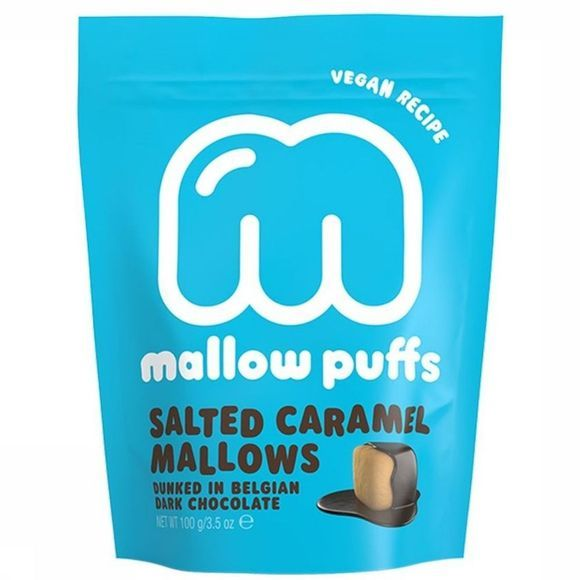 Mallow Puffs Nourriture Mallows Puffs Salted Caramel 100gr Bleu Moyen/Blanc