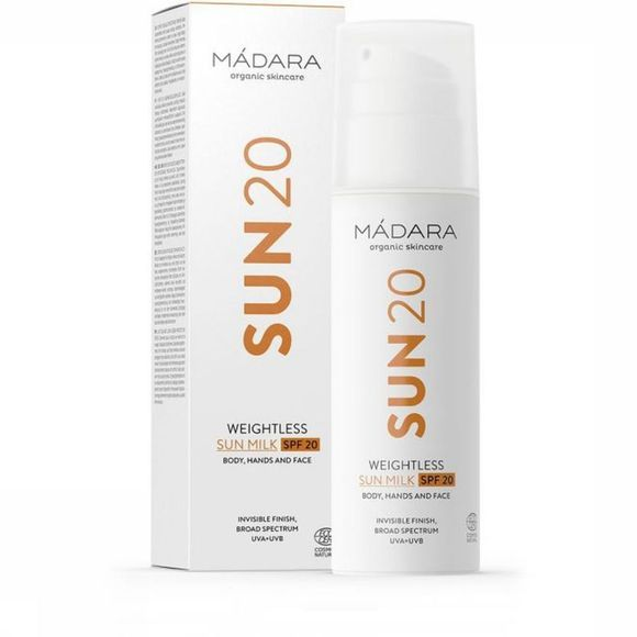 Madara Cosmetics Lotion Maco Weightless Sunmilk SPF20 Pas de couleur