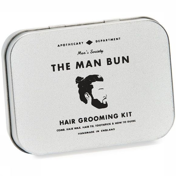Men's Society The Man Bun Hair Grooming Kit Wit/Zwart
