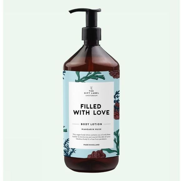 The Gift Label Lotion Body Filled With Love Bleu Clair/Vert Moyen