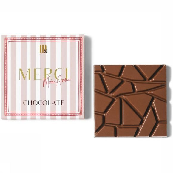 Me&Mats Chocolade Merci Ami Lichtroze/Wit