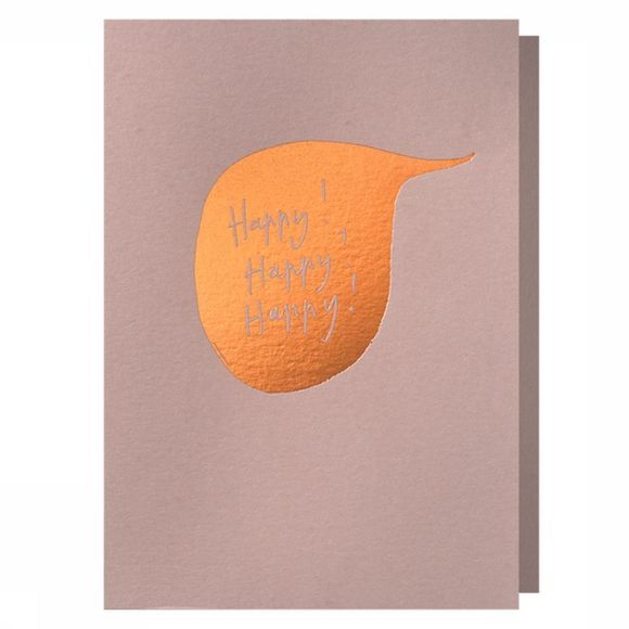 Papette Carte de Voeux Hot Copper Happyhappyhappy Pas de couleur