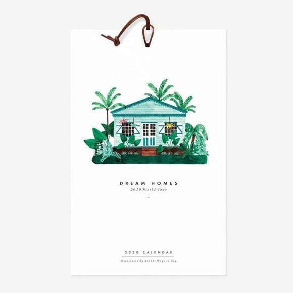 All the ways to say Papierwaren Kalender 2020 Dream Homes Geen kleur