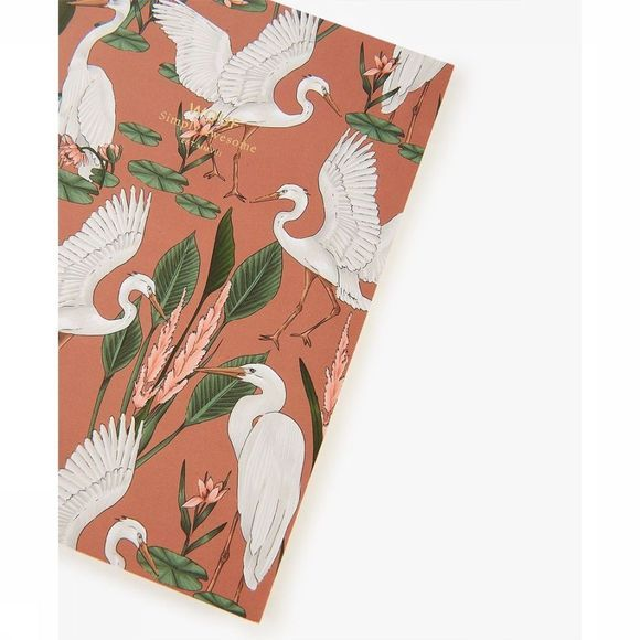 Wouf Papierwaren Notebook A5 Sunset Lagoon Oranje/Wit