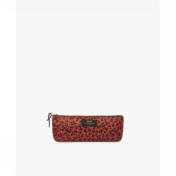 Wouf Papeterie Pencil Case Savannah Rouge Moyen/Noir