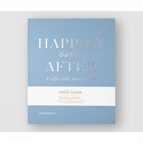 Printworks Foto Album Happily Ever After Lichtblauw