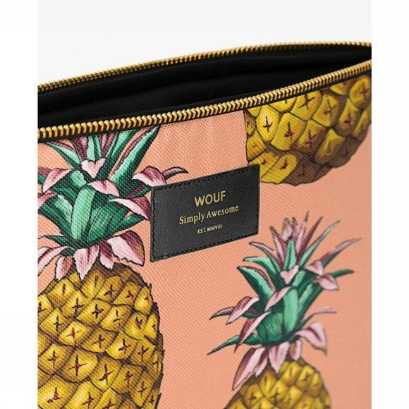 "Wouf Accessoire I-tech sleeves Ananas 13"" Lichtroze/Middengeel"