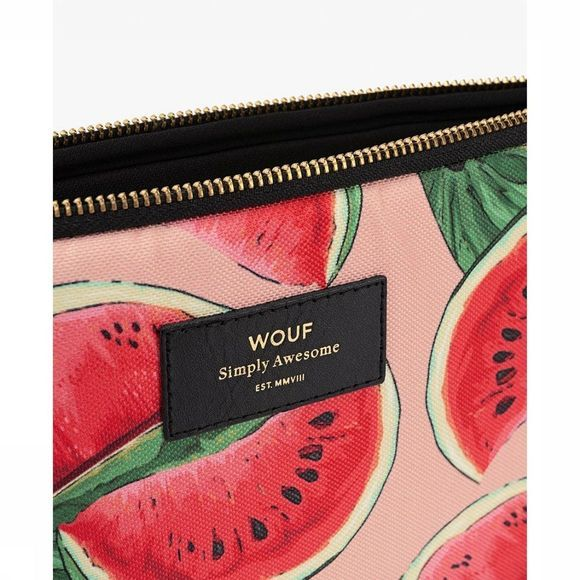 Wouf Laptophoes Watermelon Rood/Middenroze