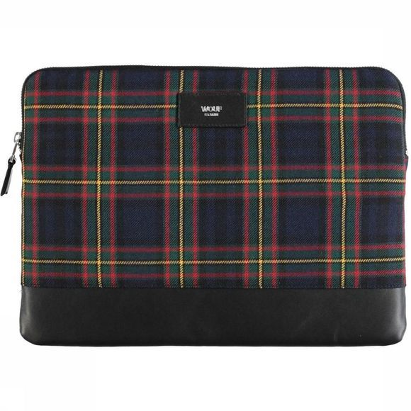 "Wouf Bureau Accessoire Laptophoes 13"" Navy Scotland Donkerblauw/Middenrood"