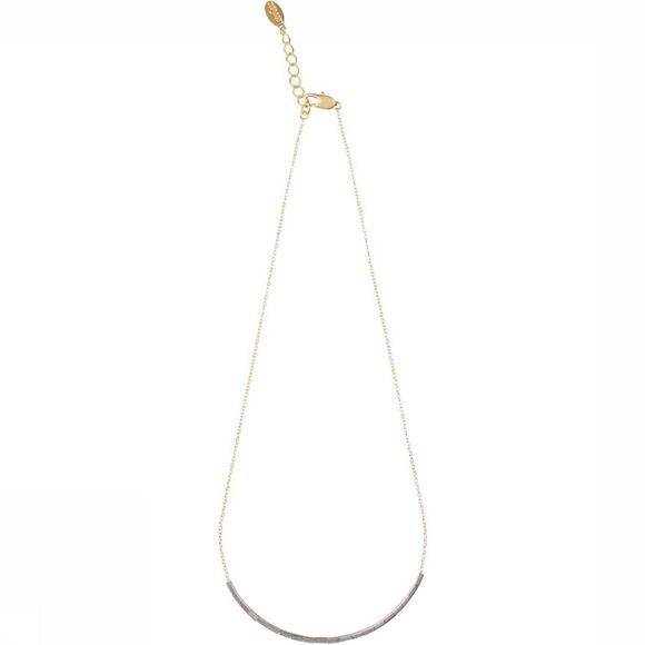 Lobogato Collier Ketting Short Silver Bead Or/Argent