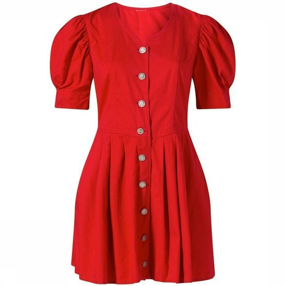 Le Freddie Mini Dress With Puffed Sleeves Assortiment