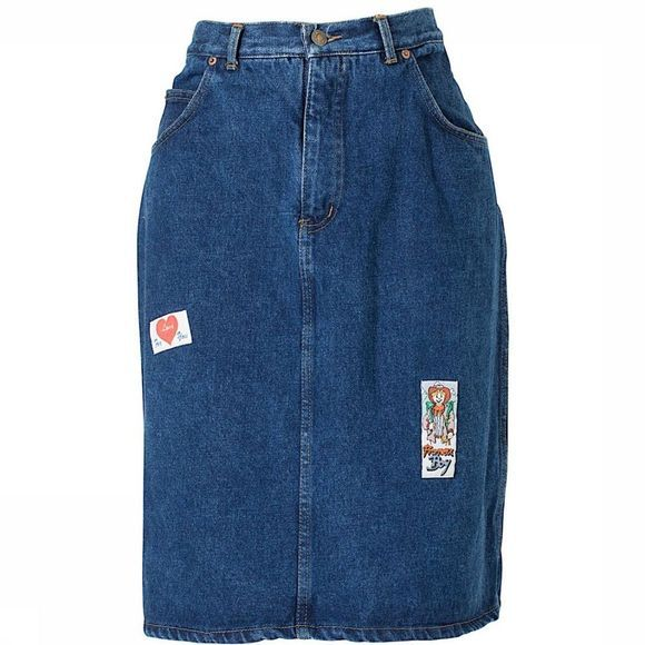 Le Freddie Patches Denim Skirt Assortiment